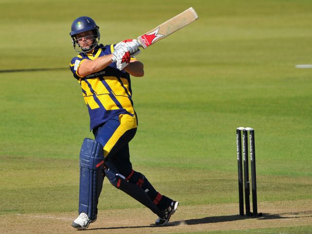 Allenby hits out during his 74 not out against Hampshire
