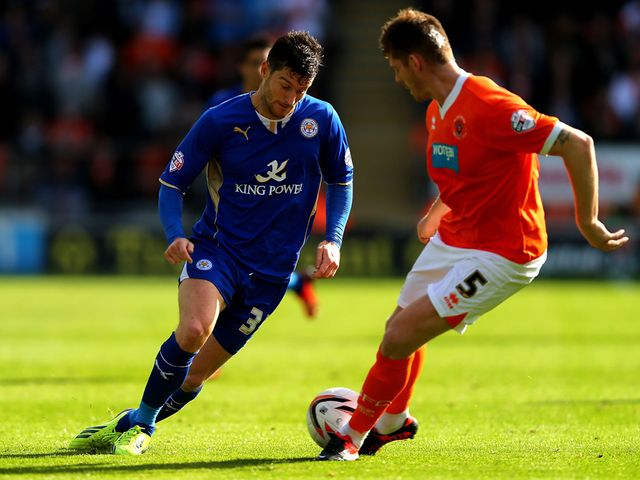 David Nugent in action for Leicester.