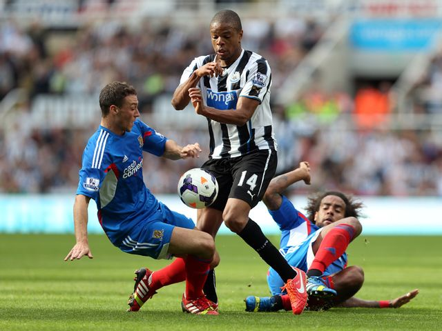 Loic Remy in action for Newcastle.