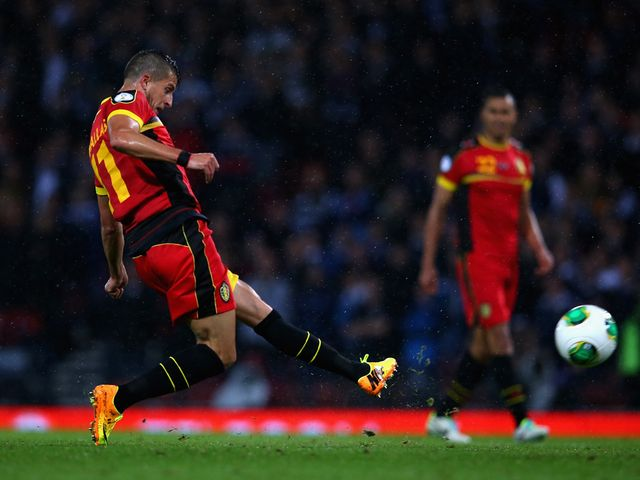 Kevin Mirallas scored Belgium's second goal of the night