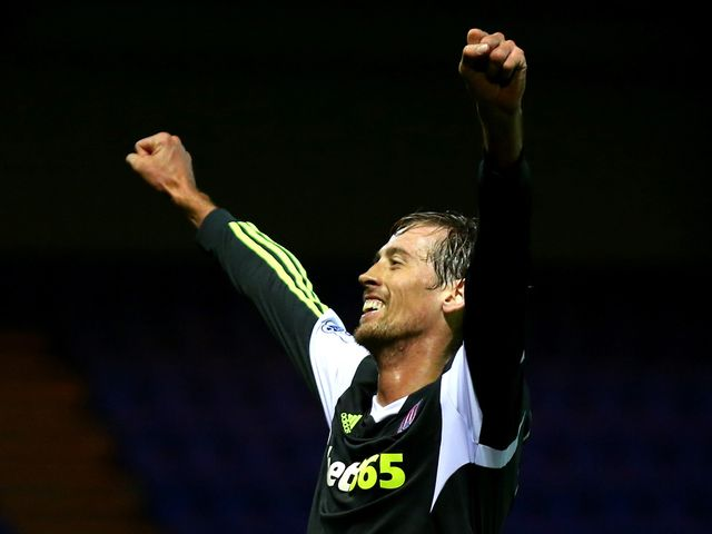 Crouch celebrates his strike