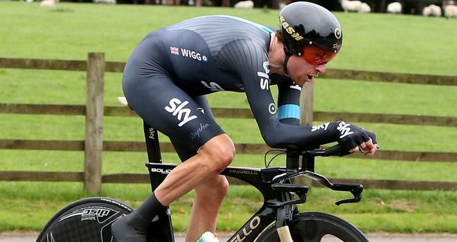 Sir Bradley Wiggins demolished the field to claim the stage win and race lead