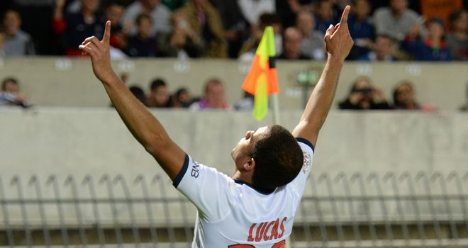 Lucas Moura celebrates his goal