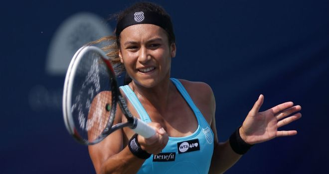 Heather Watson: Beaten in opening round by veteran Japanese player