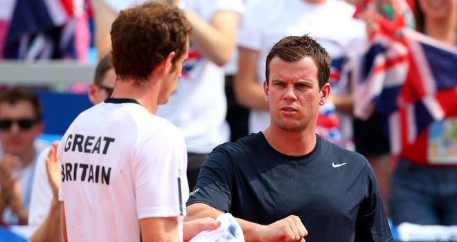 Andy Murray and Leon Smith in Croatia