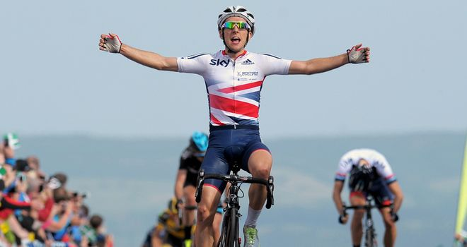 Simon Yates: Triumphed at the summit of Haytor during the Tour of Britain