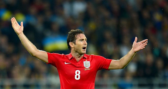 Frank Lampard won 100th cap and went closest to scoring for England