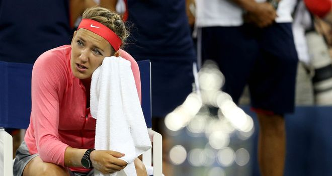 Azarenka is in tears after losing to Williams for the second year in succession