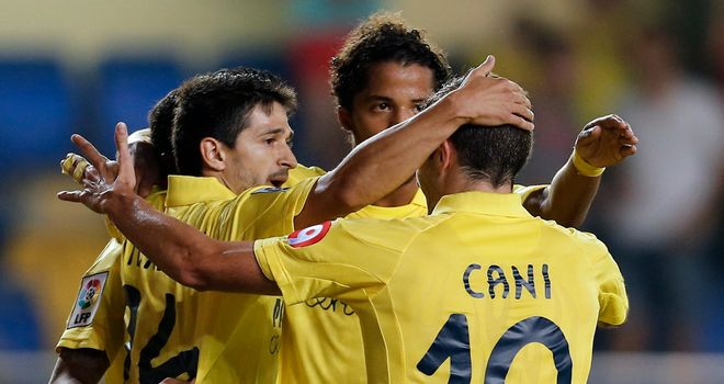 Celebrations for Villarreal.