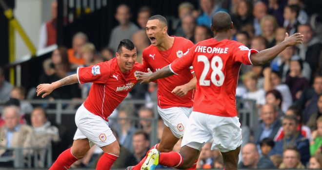 Steven Caulker: Celebrates putting Cardiff ahead