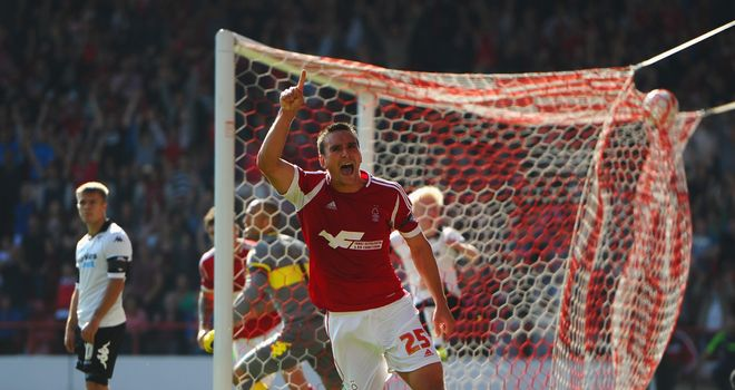 Jack Hobbs: Celebrates the winner for Forest