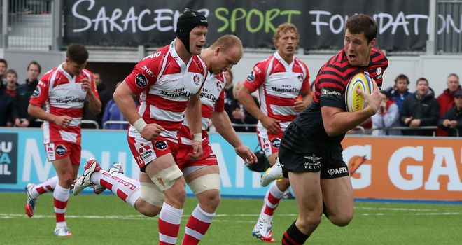 Joel Tomkins: Scored the opening try for Saracens