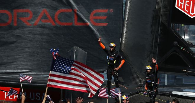 Oracle Team USA: Kept their hopes of a dramatic comeback in the America's Cup alive