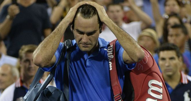 Roger Federer: Bowed out in the fourth round of the US Open and second round of Wimbledon