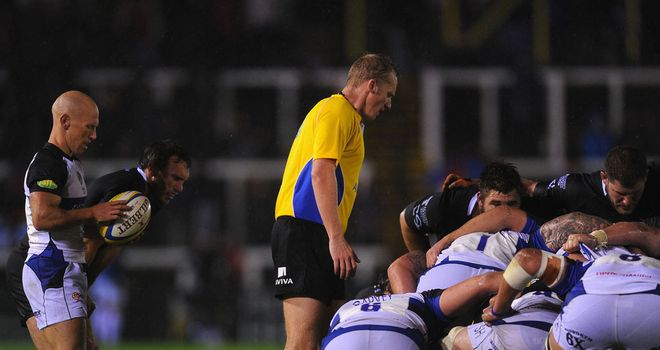 Wayne Barnes: Gave a dominant performance at Bath's set pieces