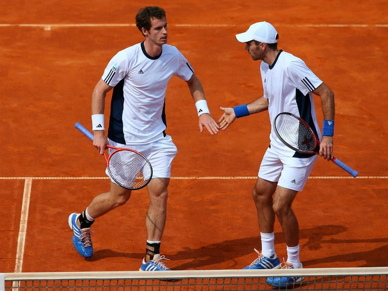 Andy Murray and Colin Fleming celebrate