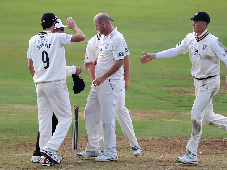 Chris Rushworth was in the wickets again for Durham