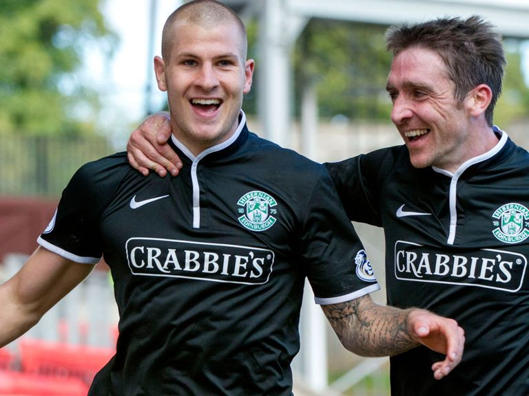 Heffernan (r) and Collins have impressed for Hibs of late