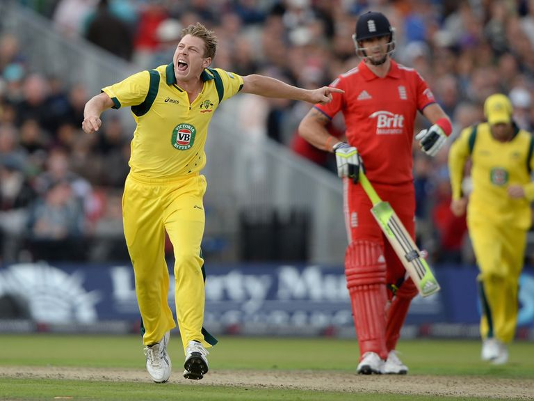 James Faulkner in action at Old Trafford