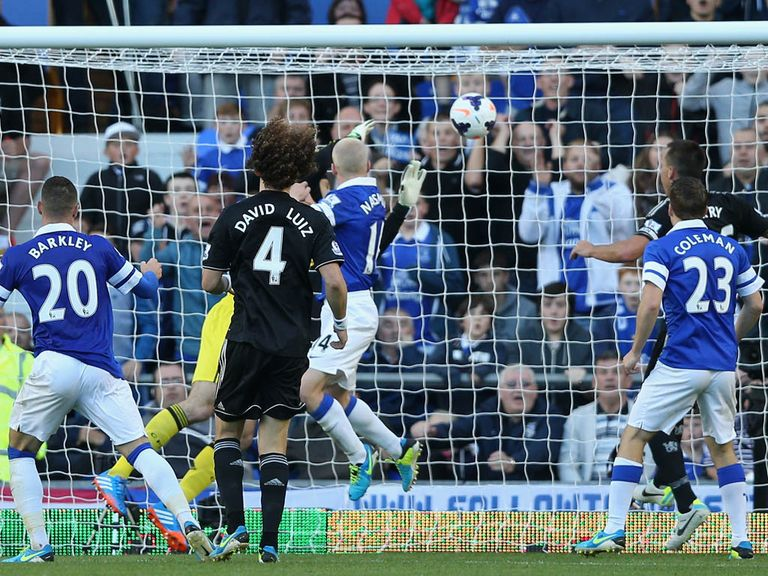 Steven Naismith heads the only goal as Everton beat Chelsea