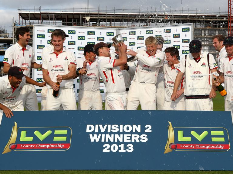Lancashire celebrate their title win