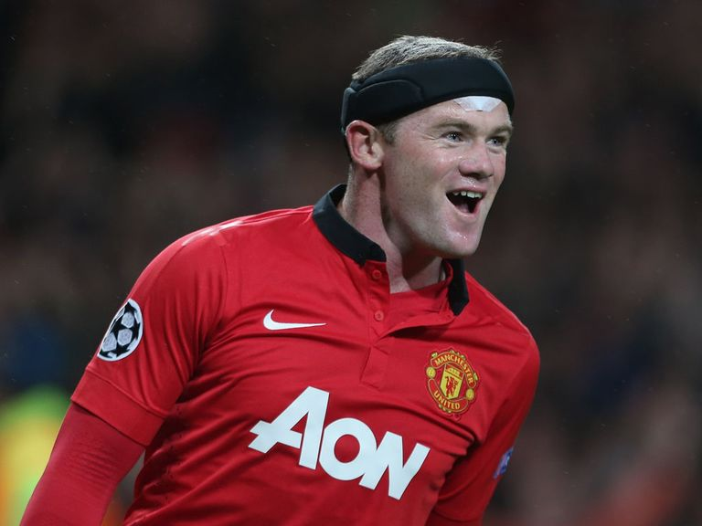 Wayne Rooney was all smiles as Manchester United beat Bayer Leverkusen.