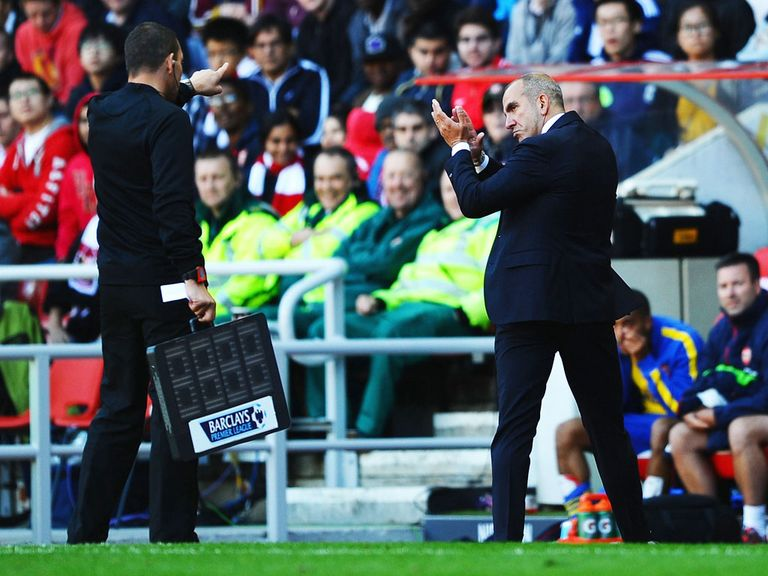 Paolo Di Canio was sent to the stand on Saturday