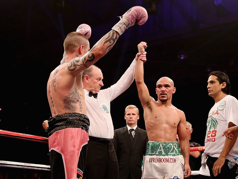 Beltran was involved in a controversial draw with Burns