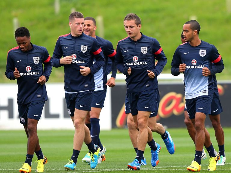 Ross Barkley: Training with England
