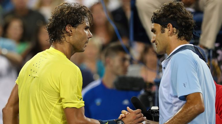 Rafael Nadal and Roger Federer: Set to clash for a place in the Australian Open final