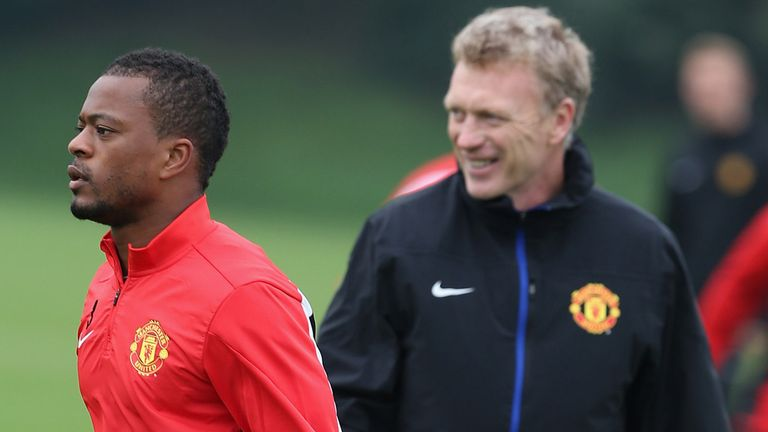 Patrice Evra: Backed by Manchester United boss David Moyes
