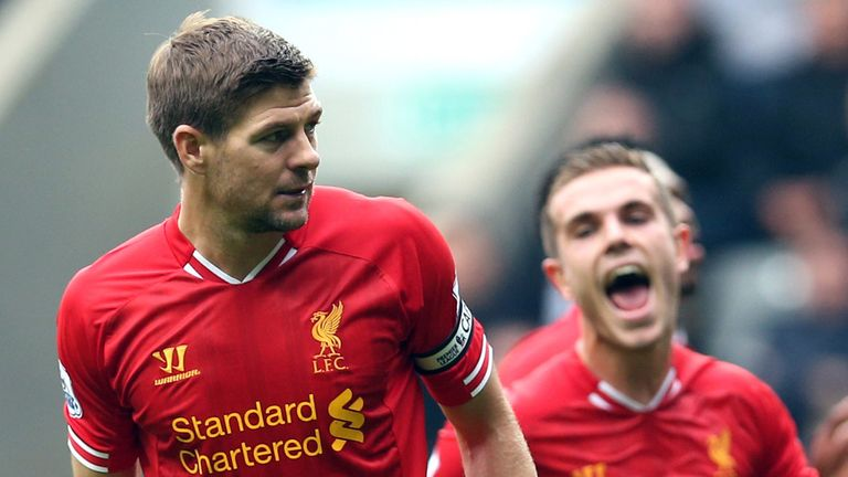 Steven Gerrard: Happy in deeper role