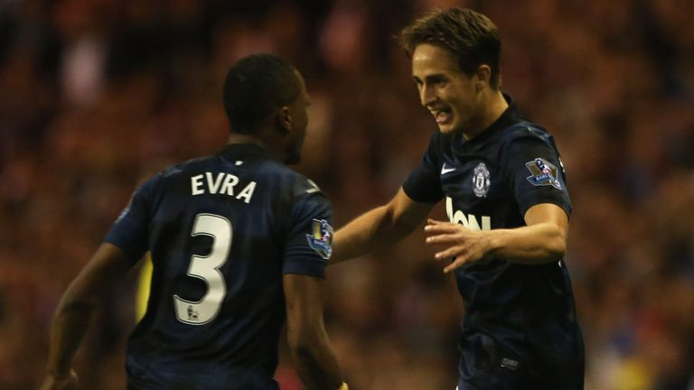 Adnan Januzaj: 18-year-old celebrates his winner with Patrice Evra
