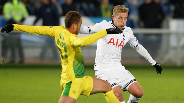 Lewis Holtby in action against Anzhi earlier this season