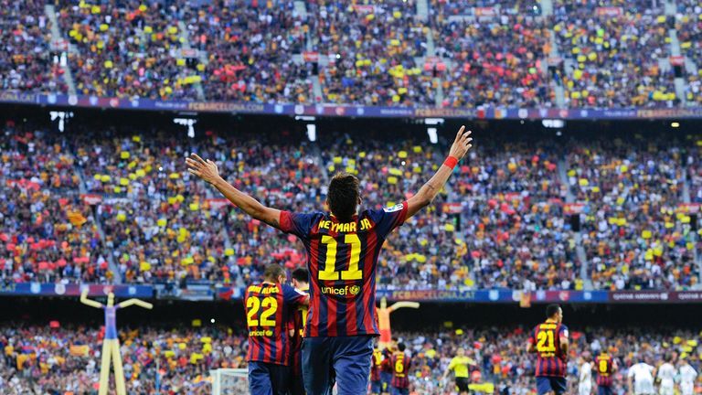 New home: Neymar has settled in well at the Nou Camp following his summer move