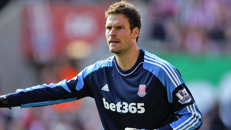 Asmir Begovic: Stoke keeper suffered a broken finger in training