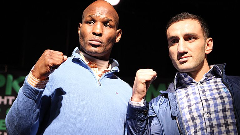 Bernard Hopkins (L): Will defend his IBF light-heavyweight against Karo Murat