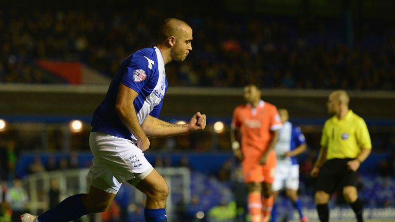 David Murphy: Celebrates one of his goals for Birmingham