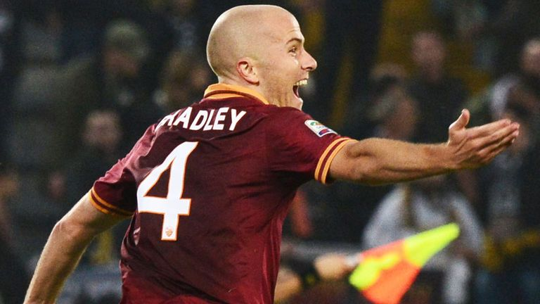 Michael Bradley: Celebrates his winning goal for Roma in Udinese