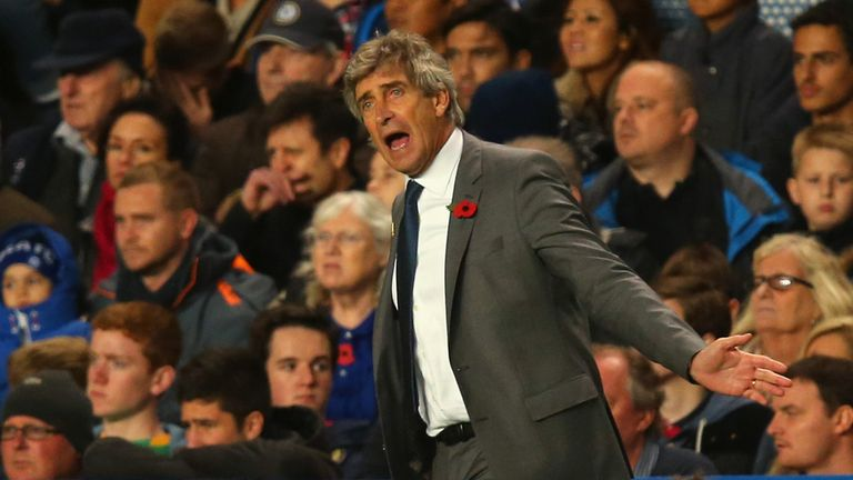 Manuel Pellegrini: Bemoaned a cruel defeat for Manchester City at Chelsea