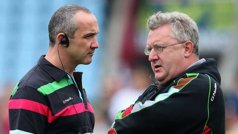 Tony O'Shea and coach John Kingston: Hoping to overcome a slow start to season