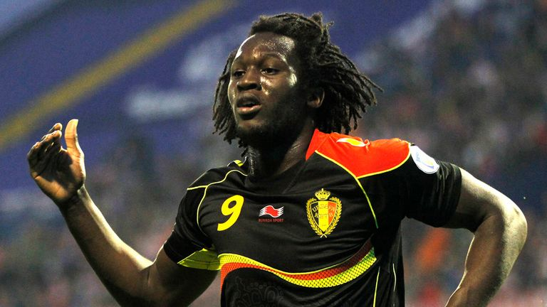 Romelu Lukaku celebrates his opening goal as Belgium beat Croatia