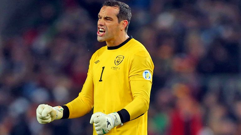 David Forde in action for the Republic of Ireland