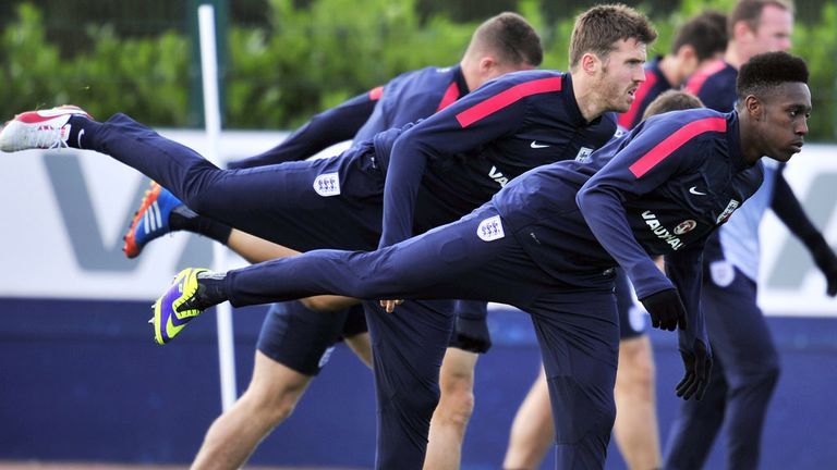 England train ahead of Tuesday's crucial World Cup qualifier against Poland at Wembley