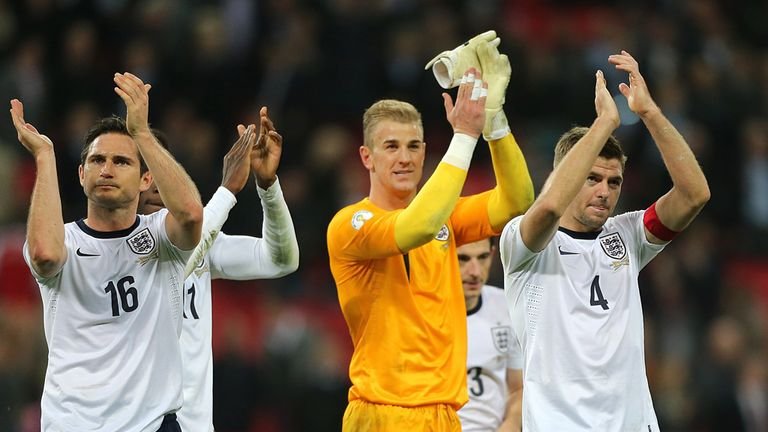 Finalists: England confirmed their qualification on Tuesday night