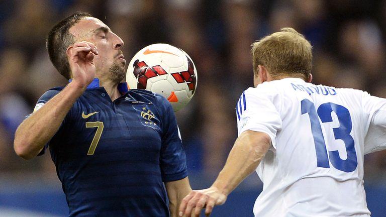 Franck Ribery (l): Opened the scoring