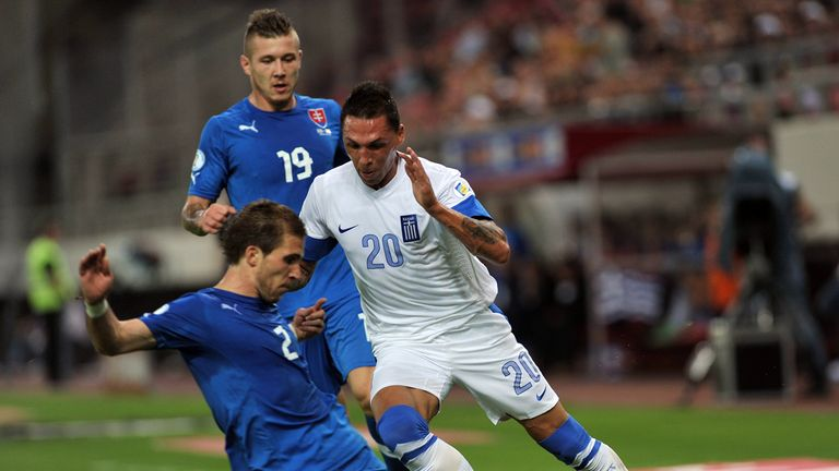 Jose Holebas: In action for Greece