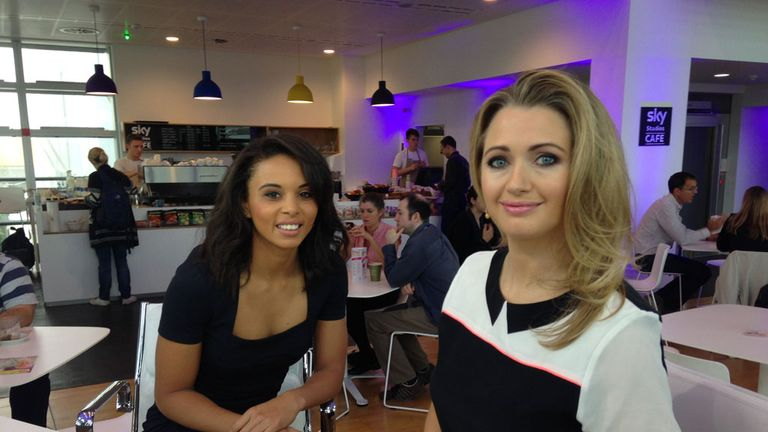 Louise Hazel with Hayley McQueen on 'Sportswomen'