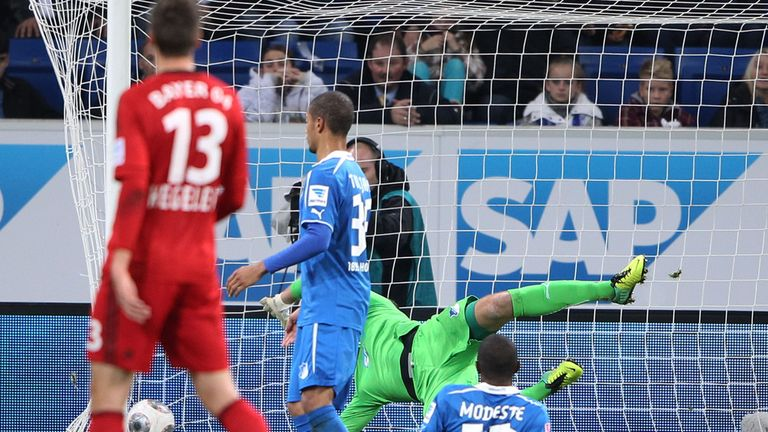 Stefan Kiessling 'ghost goal' goes in against Hoffenheim