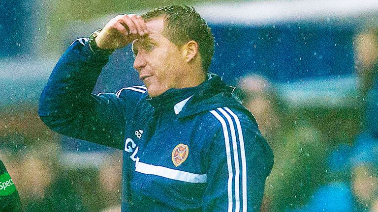 Gary Locke: Hearts boss watched in frustration as his team lost in Kilmarnock